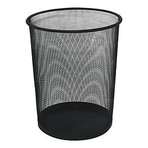 Kosz na śmieci, metalowa siatka, czarny*