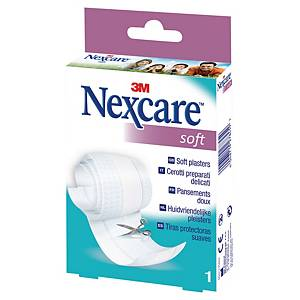 Nexcare™ Soft pleister op rol, witte flexibele band, doos met 1 rol