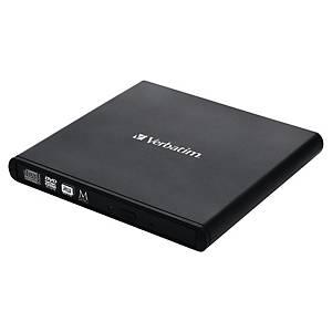 DVD-drev Verbatim 98938, eksternt, sort