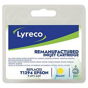 Lyreco remanufactured Epson inkt cartridge T1294, geel