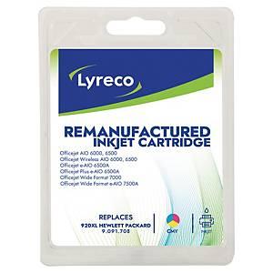 LYRECO kompatible Tintenpatrone HP 920XL (C2N92AE) 3-farbig C/M/G