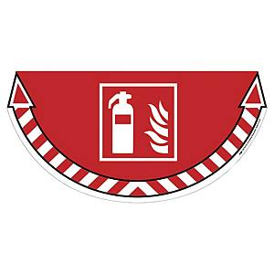 CEP Take Care floor sticker fire systems red