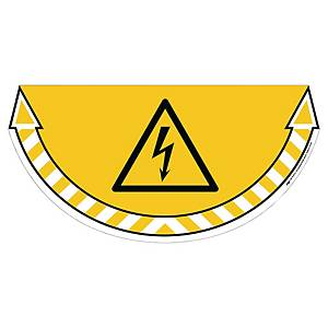 CEP Take Care floor sticker electrical hazard yellow