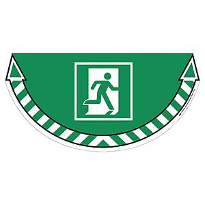 CEP Take Care floor sticker emergency exit green