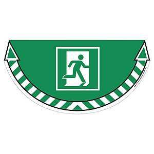 Autocollant sol signalisation sortie de secours CEP Take Care, vert, la pièce