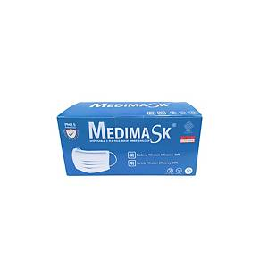 MEDIMASK หน้ากากอนามัย 3 ชั้น ฟ้า แพ็ค 50
