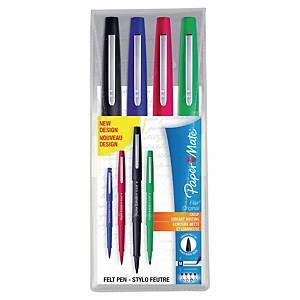 Felt-tip pen paper Mate Flair, line width 0,8 mm, set of 4, ass.