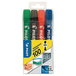 Marker PILOT SCA 100, etui 4 kolorów