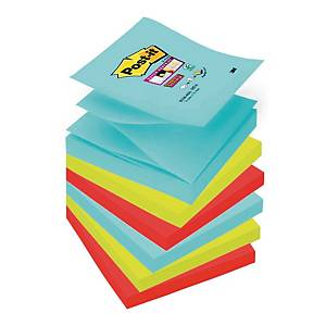 Post-It Super Sticky Miami Colour Z-Notes 76X76mm  Pack of 6