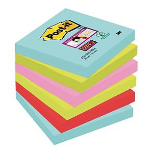 Karteczki samoprzylepne Post-it Super Sticky, Miami, 76x76mm, 6x90 karteczek