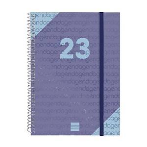 Agenda Finocam Year E10 - semana vista - 155 x 212 mm - azul