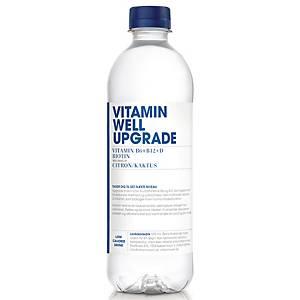 Vitaminvand Vitamin Well Upgrade, citron og kaktus, 500 ml, pakke a 12 stk.
