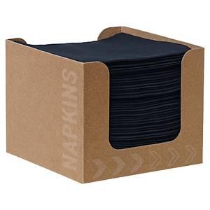 Duni dispenser met zwarte servetten, 20 x 20 cm, pak van 50 stuks