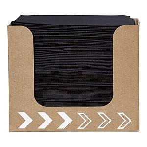Pacote de 50 guardanapos de papel Duni Dunisoft® - 200 x 200 mm - preto