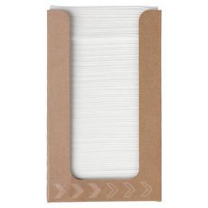 Serviette Dunisoft - 20 x 20 cm - blanche - boîte distributrice de 100