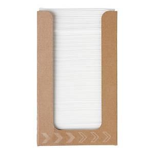 Duni 174501 Fingerfood White Napkins 20X20cm - Dispenser of 100