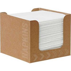 Pacote de 50 guardanapos de papel Duni Dunisoft® - 200 x 200 mm - branco