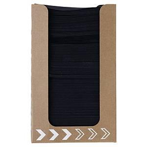 Duni dispenser met zwarte servetten, 20 x 20 cm, pak van 100 stuks