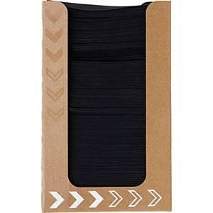 Pacote de 100 guardanapos de papel Duni Dunisoft® - 200 x 200 mm - preto