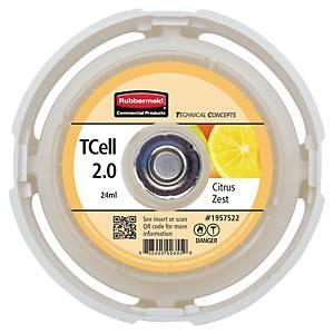 Rubbermaid Tcell 2.0 navulling luchtverfrisser Citrus Zest, 24 ml, per stuk