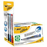 Bic Velleda 1701 Blue Whiteboard Marker - Box of 12 + 3 Free Liquid Ink Markers