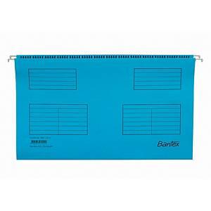 Hængemappe Bantex, folio, blå, pakke a 25 stk.