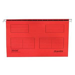 Hængemappe Bantex, folio, rød, pakke a 25 stk.