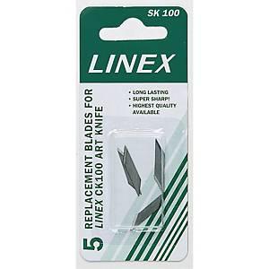 Skæreblade Linex, pakke a 5 stk.