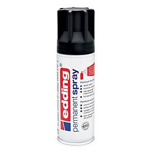 EDDING PERMANENT SPRAY BLACK MATT