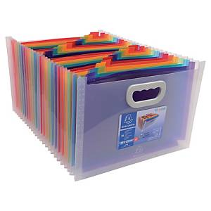Exacompta Crystal Polypropylene Expanding File With Handles, 24 Sections