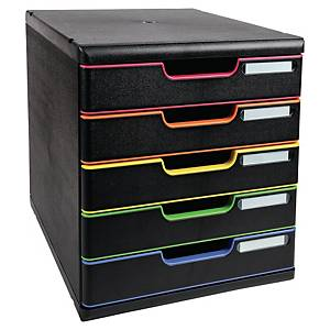 Módulo de organización Exacompta Modulo - 5 cajones - negro