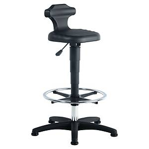 Siège assis-debout industriel Prosedia 9408 avec repose-pieds, PUR, noir