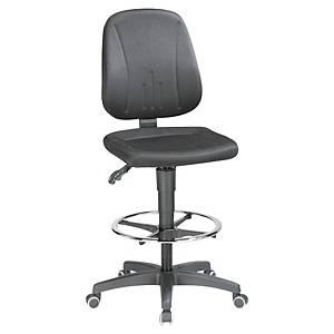 Prosedia 9651 industriële bureaustoel met voetsteun, stof, zwart