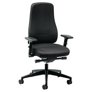 Prosedia Younico 2456 bureaustoel met hoge rugleuning, stof, zwart