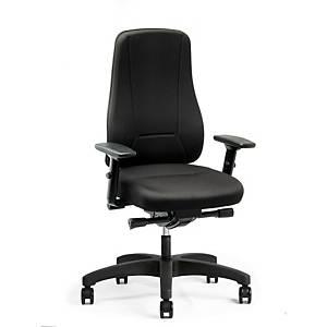 Cadeira com mecanismo sincronizado Prosedia Younico 2456 - preto