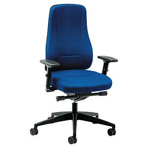 Prosedia Younico 2456 bureaustoel met hoge rugleuning, stof, blauw