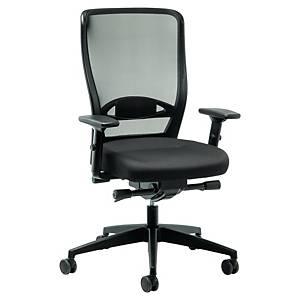Prosedia Younico Pro 3476 bureaustoel met synchroon mechanisme, stof, zwart