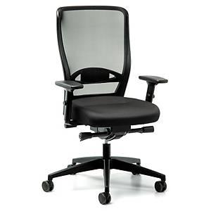 Chaise de bureau Prosedia Younico 3476, dossier haut, noir