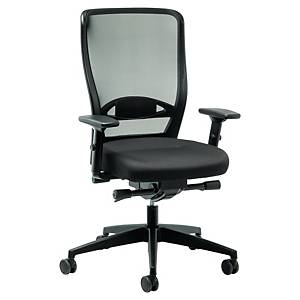 Kancelárska stolička Interstuhl Younico 3476, synchrónny mechanizmus, čierna