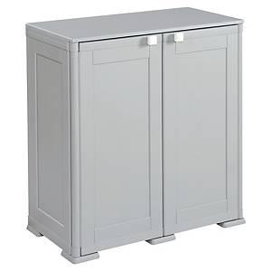 Armoire KIS avec 2 étagères, gris