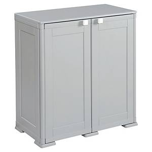 KIS CUPBOARD WITH 2 SHELVES 1M GREY