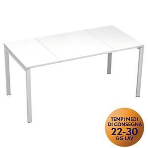 Scrivania Easydesk Paperflow L 160 x P 80x H 75 cm bianco