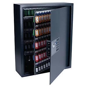 Cassetta portachiavi alta sicurezza Pavo 150 posti in acciaio nero
