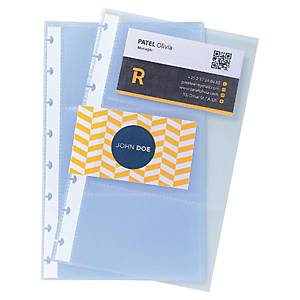 Visitenkartenhüllen Exacompta 86111E, A5, transparent, 10 Stück
