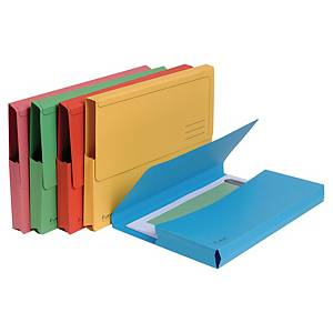 Exacompta Forever Recycled A4 Document Wallets, 290gsm Assorted Colour Pack 10