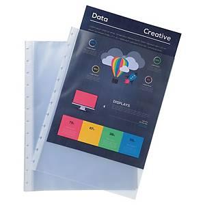 Recharge Exacompta, 10 pochettes transparentes pour reliures de présentation A4