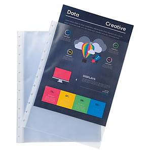 Exacompta Grained Polypropylene A4 Removable Display Book Pockets, Pack 10