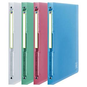 Elba 2nd Life 4-ring binder in PP 20mm assorted colours - pack of 4