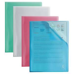 Oxford Second Life showalbum, A4, PP, 40 tassen, assorti kleuren, per 4 stuks