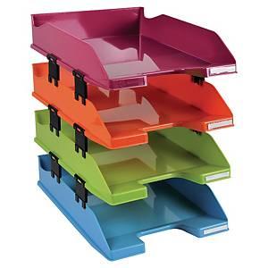 Pack 4 bandejas de sobremesa Exacompta Arlequín - poliestireno - varios colores